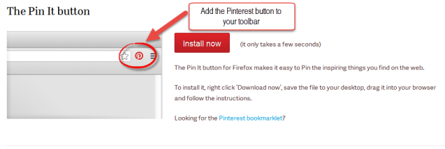 Pinterest Bookmarklet: download it for easy pinning