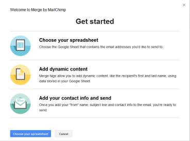 MERGE OPTIONS: getting started with your data spreadsheets