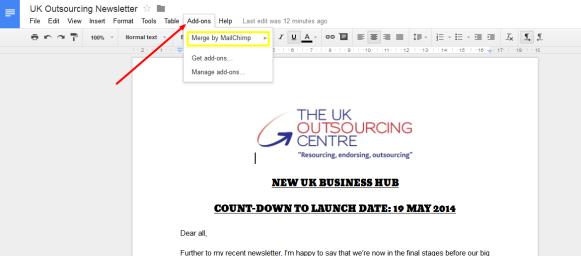 Merge, MailChimp, document