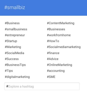 Google Plus Hashtag search