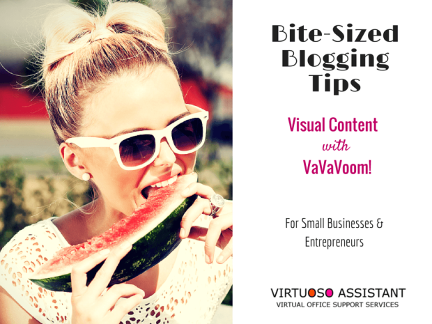 Blogging tips for business visual content