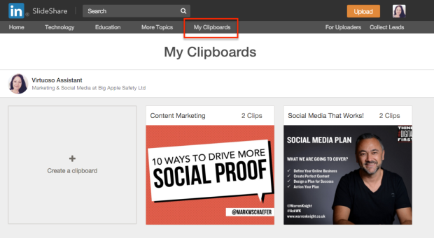 Clipboards on SlideShare