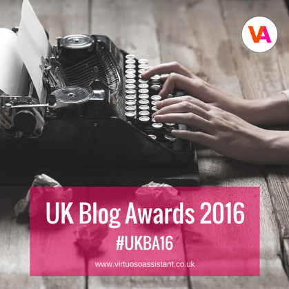 Virtuoso Assistant UK Blog Awards 2016