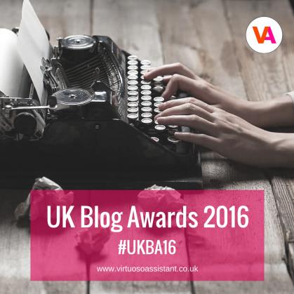 Virtuoso Assistant UK Blog Awards 2016